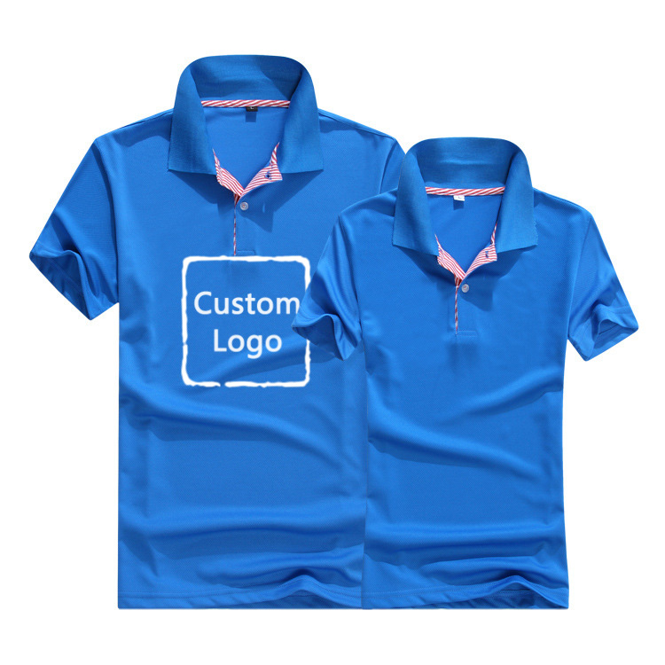 Solid Color Polo Custom Logo