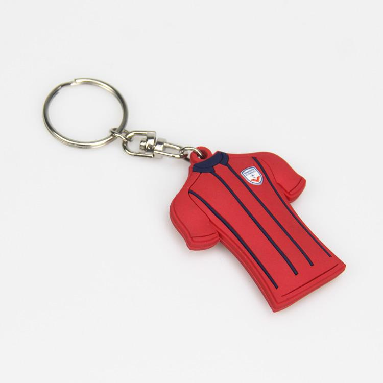Football Jersey PVC Keychain