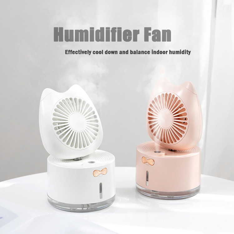 Cute Humidifier Fan Mini