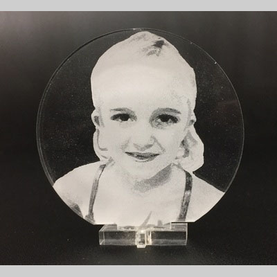 laser etching photo on acrylic