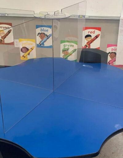 desk barrier for classroom tabletop