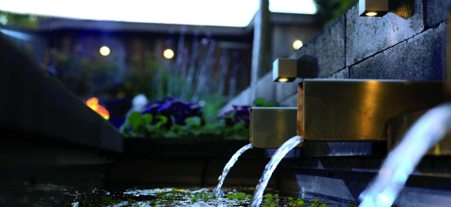 in-lite water feature