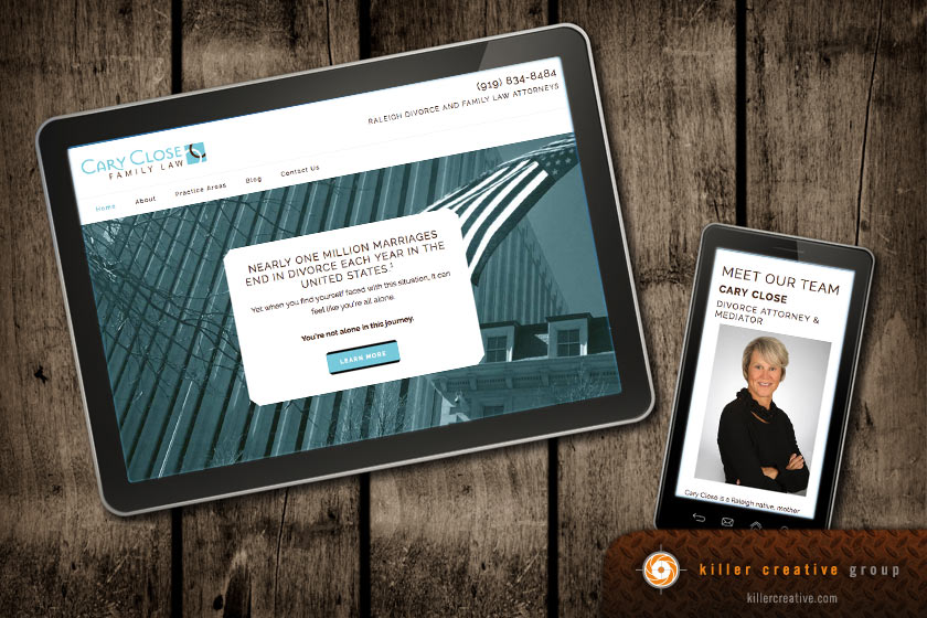Cary law firm logo and website NC