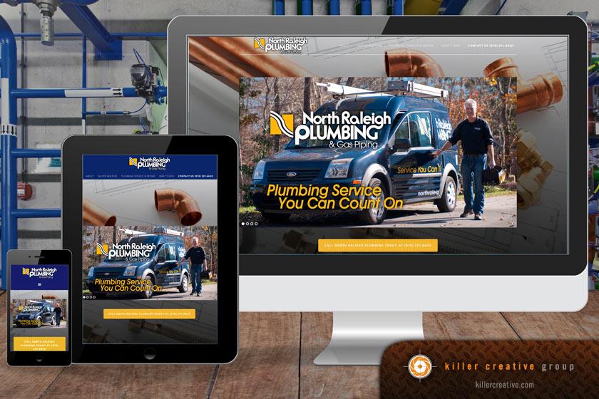 north raleigh plumbing website design nc