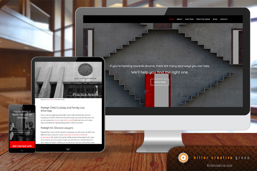 Nelson law firm website Raleigh