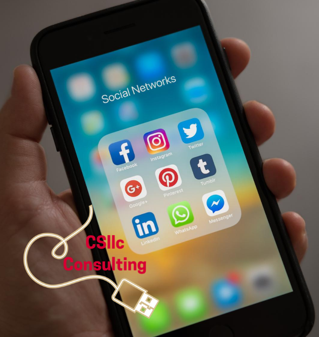 photo of Iphone with social media icons