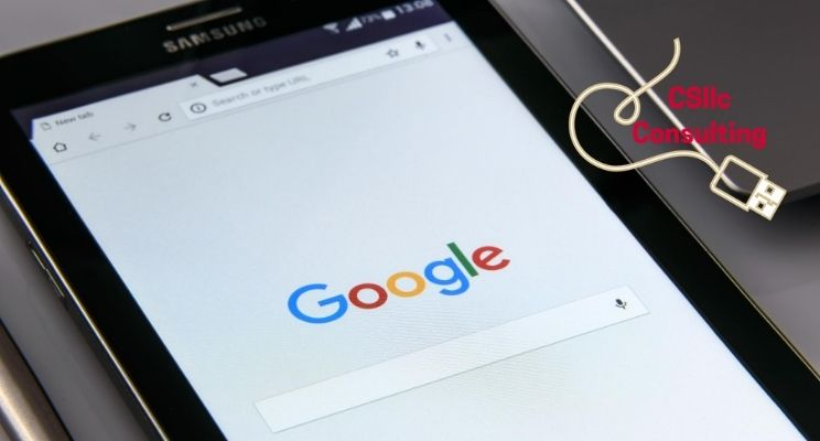 photo of Google landing page used for Google My Business information blog