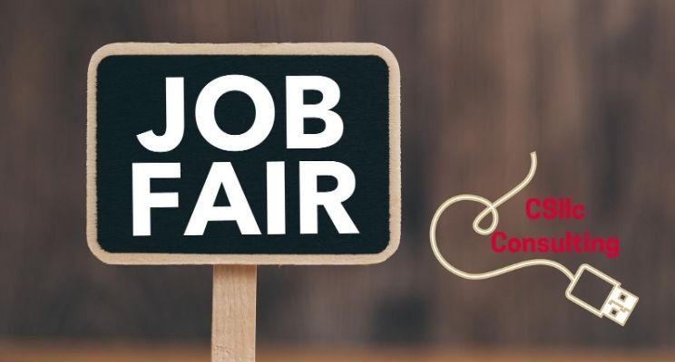 """photo of a sign thtat says """"Job Fair"""""""