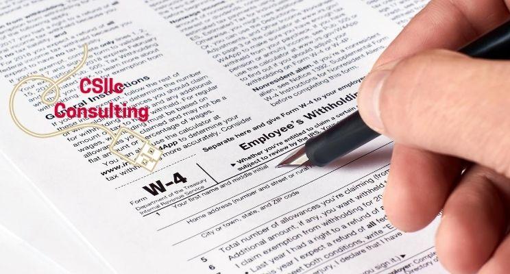 photo of US Tax form w-4