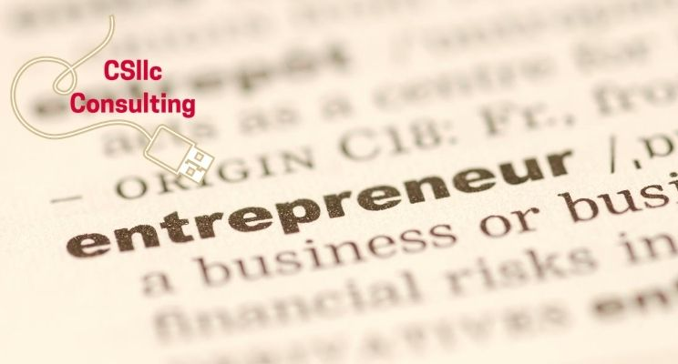 photo of dictionary highlighting the definition of 'entrepreneur'