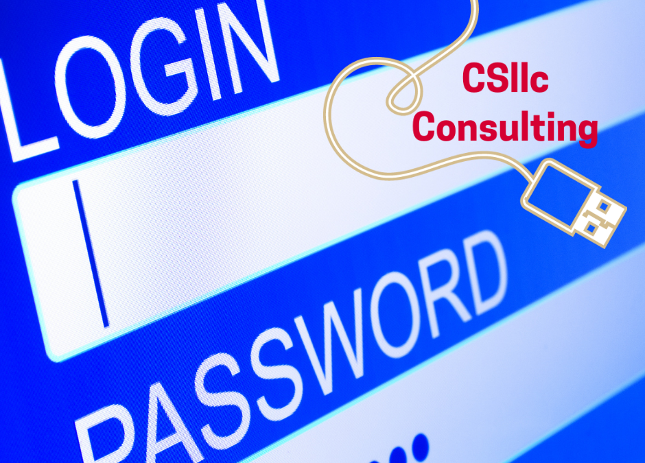 photo of screen with Login and Password blanks and the CSllc logo