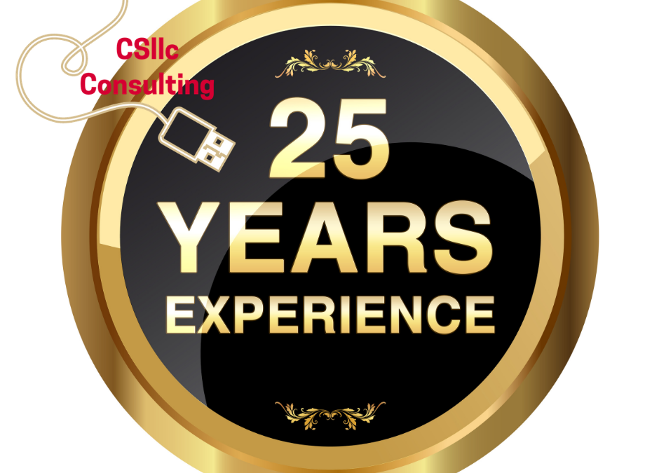 photo of medallion that says 25 years experience