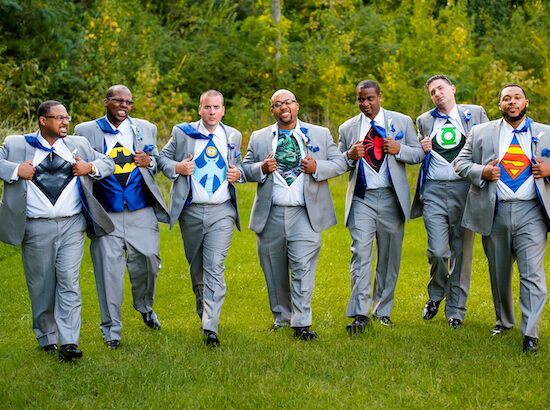 E'MAGINE Events & Co - fun ideas for grooms - super hero t shirts for groomsmen