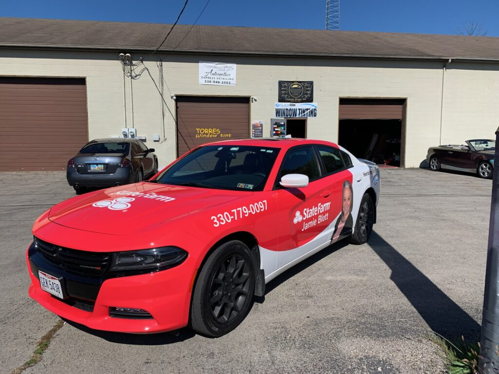Truck wrap mustang car state farm examples