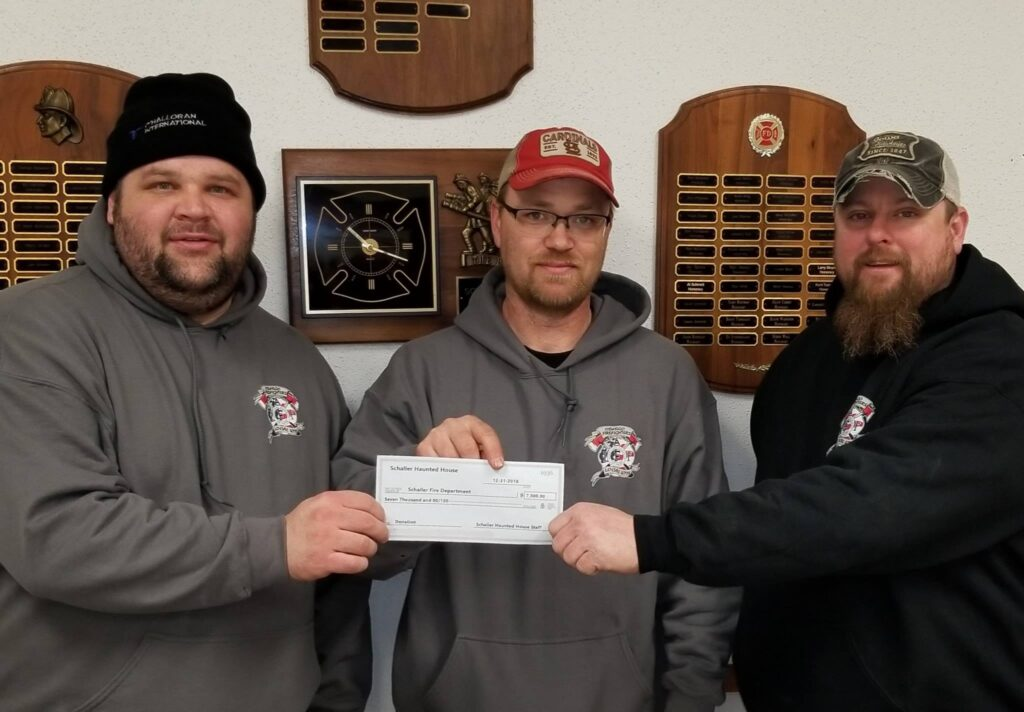 Haunted House Donation to Fire Department
