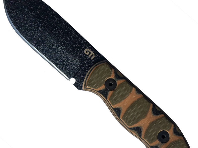 GTI 3.5″ Fixed Blade Survival Knife with G10 Handles and Kydex Sheath — Tactical Intent Exclusive!