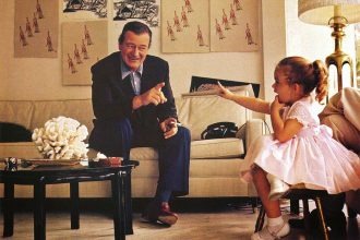 John Wayne and Daughter