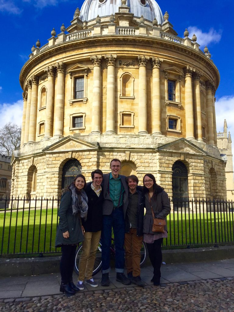 Oxford students before Sheldonian Theatre