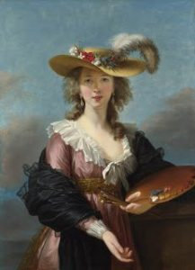 Marie Louise Elisabeth Vigée Le Brun, Self-portrait in a straw hat after 1782 oil on canvas, 38.5 × 27.8 in., National Gallery, London, UK
