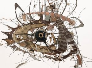 Detail from an untitled work, 1980-98, by Lee Bontecou, from MoMA's permanent collection. Credit The Museum of Modern Art