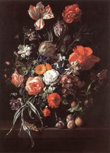 """Rachel Ruysch, """"Still-Life with Bouquet of Flowers and Plums"""", 1704, Royal Museums of Fine Arts of Belgium"""