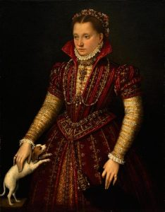 "Lavinia Fontana, ""Portrait Of A Noblewoman"" Oil on Canvas, 1580"