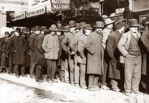 Bowery Bread Line During the Great Depression