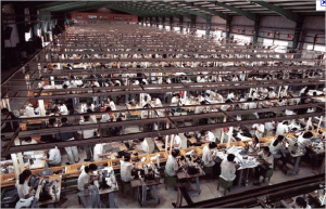 One of Apple's Foxconn factories in Shenzhen, China