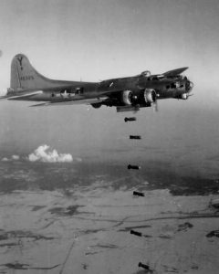 383rd Bomb Group B-17G releasing its bombs over Vienna on February 7, 1945