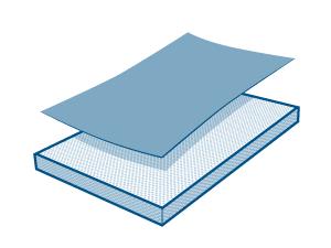 Fabric Layer on Foam Layer