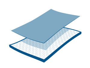 Fabric Layer on Membrane Layer