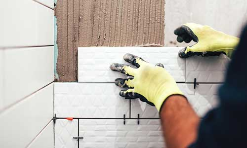Individual Installing Wall Tile
