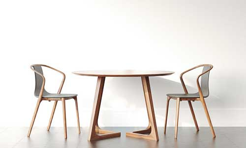 A Table with Two Chairs