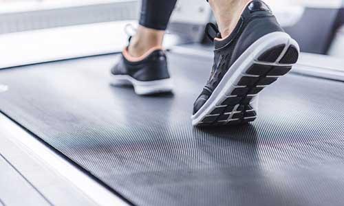 Walking on Treadmill