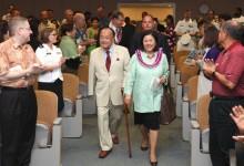U.S. Sen. Daniel Inouye with his wife, Irene Hirano