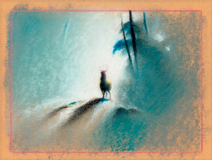 Tyrus Wong, Bambi (visual development), 1942; watercolor on paper. Courtesy of Ron and Diane Miller © Disney