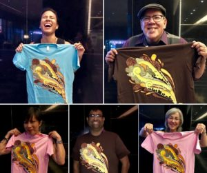 Congratulations to the 5 winners of an AIR T-shirt at our meetup. L to R top: Lauren Hardie, freelance copy editor at The Daily Beast; Steve Bryant, PR consultant at WEPB, West Philadelphia Community Radio. L to R bottom: Ruby de Luna, KUOW Reporter; Rahul Bali, Coordinator of AAJA Radio & Podcasting Group; and Sarah Eden Wallace, multimedia journalist.