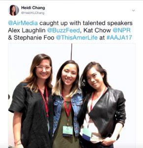 Alex Laughlin, Kat Chow, Stepahnie Foo