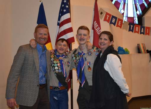 Cody and Camden Eagle Scout ceremony.