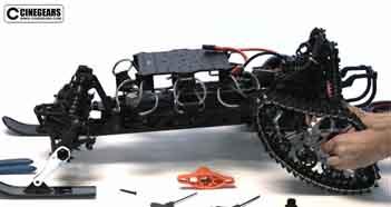 Hi-Speed Racing Gimbal Car Ski / Rover Installation