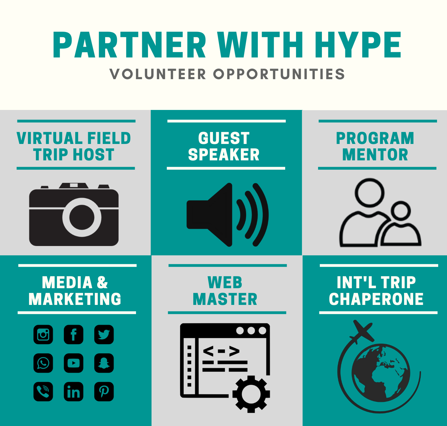 HYPE Volunteer Opportunity Images