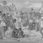 slave receiving news of emancipation in British West Indies