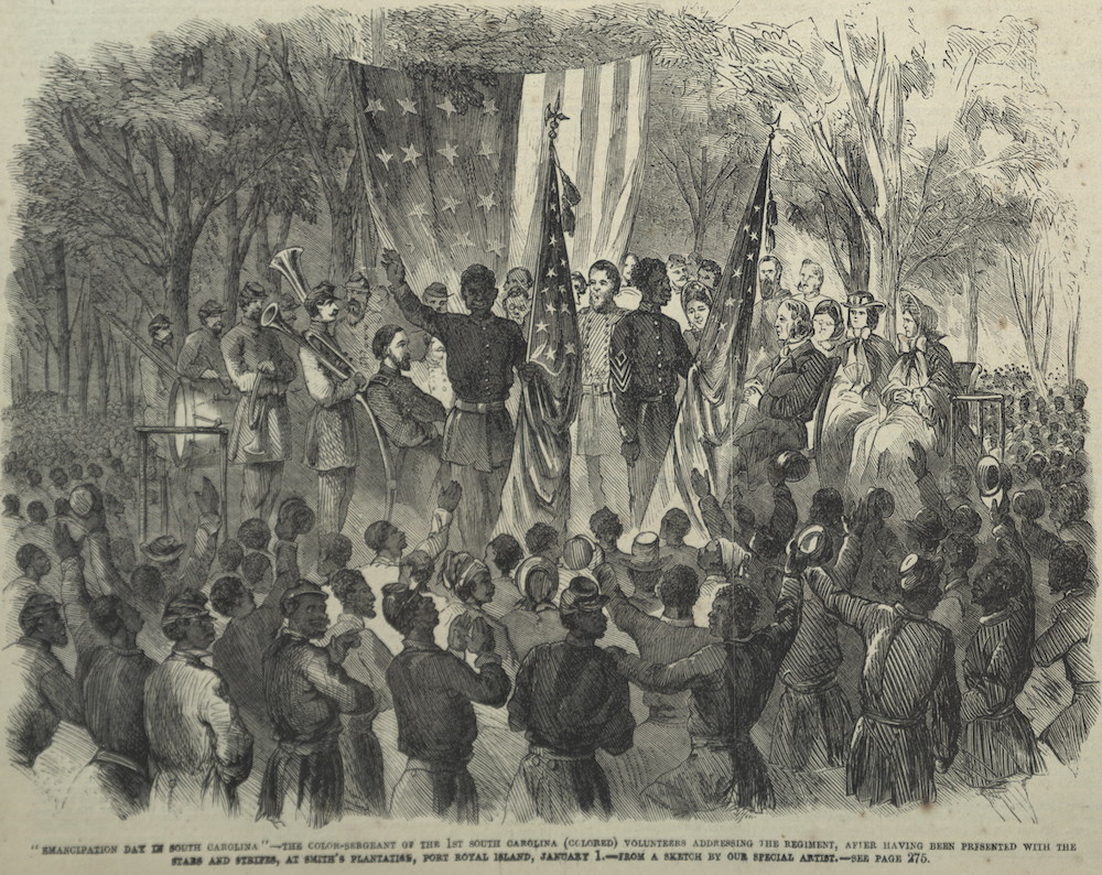 Illustration of South Carolina Emancipation Day, 1863