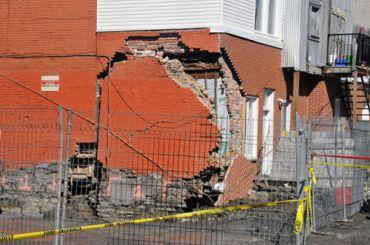 Les façades effondrés – 4 étages et moins