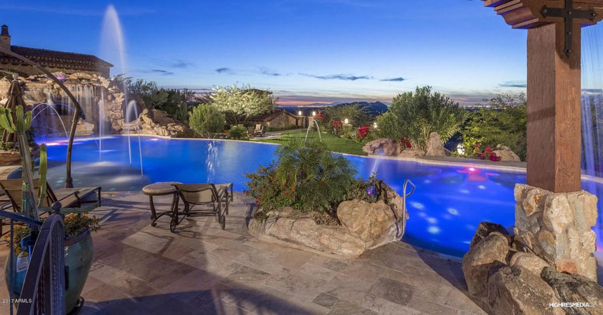 Custom Pools Showcased by Breathtaking Pool Landscaping