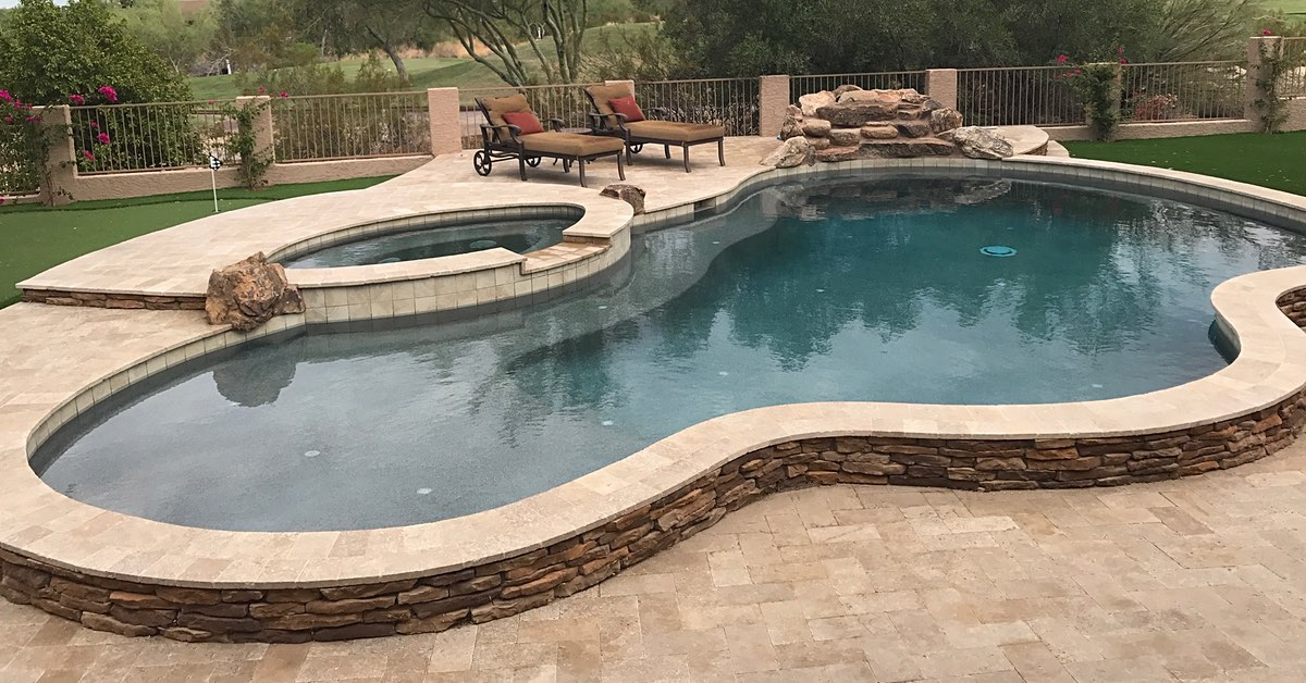 Get Creative With 2019 Pool Design Ideas Az No Limit Pools
