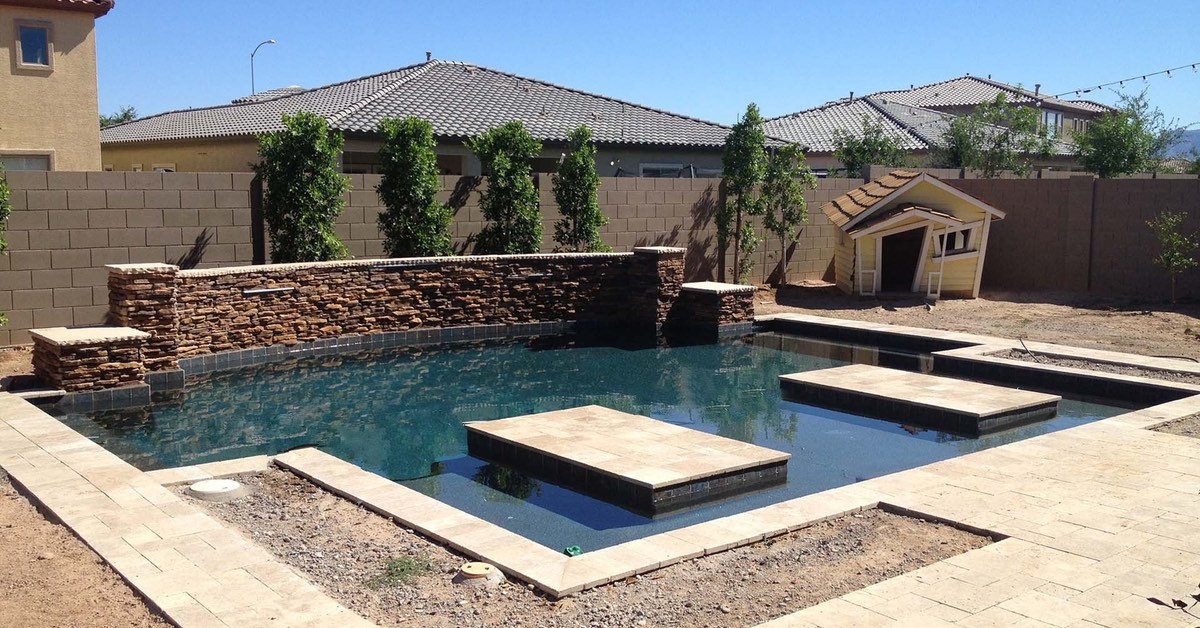 Complete Custom Crafted New Pool Construction   Phoenix