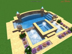 Inground Pool and Hot Tub Combo Designs