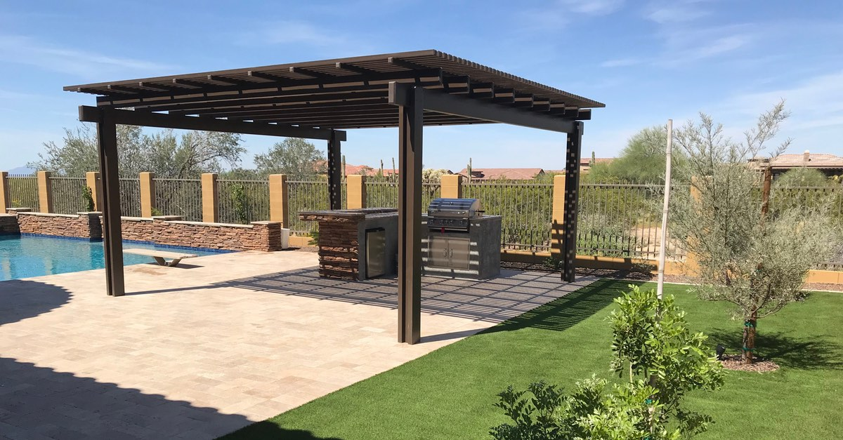 Image of: Outdoor Kitchen Ideas With Pergola Space That Will Inspire No Limit Poolsno Limit Pools