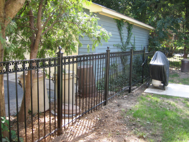 A-0705 - Aluminum Fence With Decoration